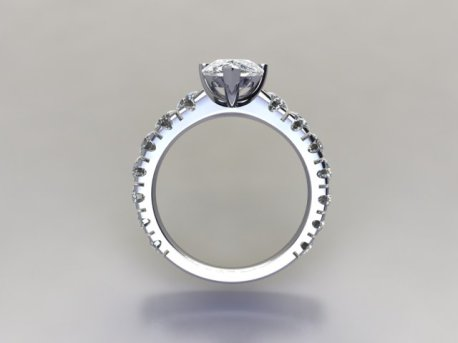 Pear Shaped Diamond Ring in platinum