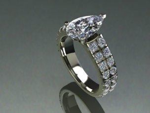 Pear Shape Ring